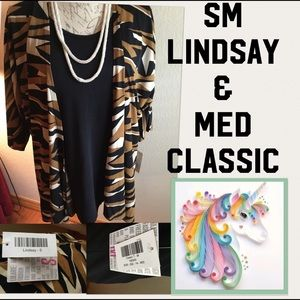 NWT SET LULAROE Sm Camouflage Lindsay & M classicT